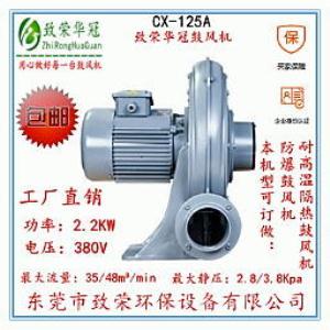 鼓风机CX-125A 中压鼓风机2.2Kw透浦式中压风机