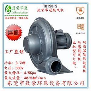 3.7Kw透浦式中压风机TB150-5中压鼓风机