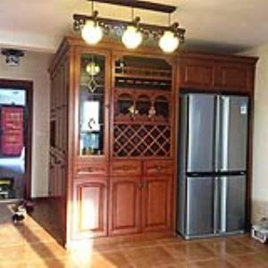 别墅欧式拱门酒柜