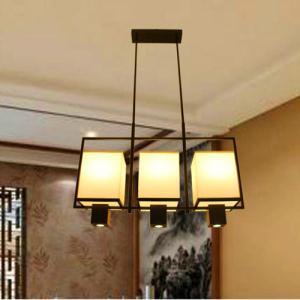 长方形新中式餐厅吊灯 仿古现代简约客厅中式灯