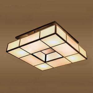 现代新中式客厅灯具复古led卧室灯布艺