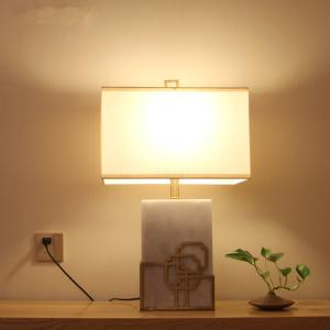 大理石铜件包边简欧美东南亚客厅书房酒店大堂装饰台灯