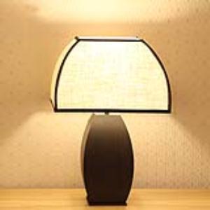 现代新中式台灯亚麻布艺台灯