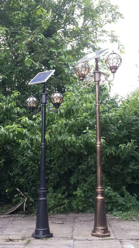 太阳能庭院灯中地球/小地球